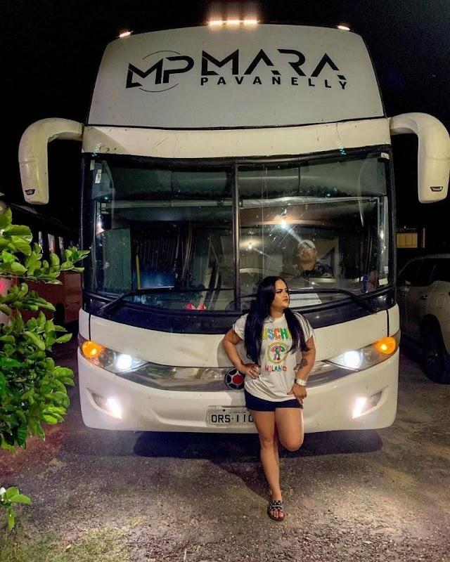 Mara Pavanelly é assaltada durante viagem de ônibus com a banda no Pará