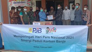 HPN 2021, SMSI Apresiasi PT PJB UP Muara Tawar Memberikan Bantuan Sembako Kepada Masyarakat Korban Banjir
