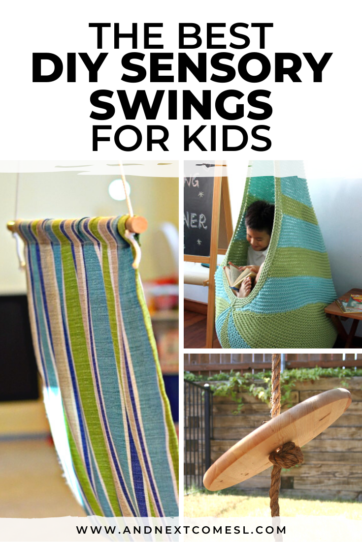 Looking for sensory swings for kids? Find out how to make a DIY sensory swing for cheap!