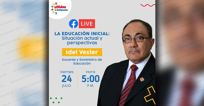 Un año sin educación inicial afectará en el futuro de los niños, sostiene el exministro de Educación, Idel Vexler