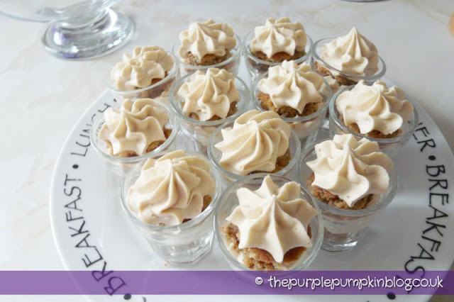 Coffee and Walnut Cake Shots