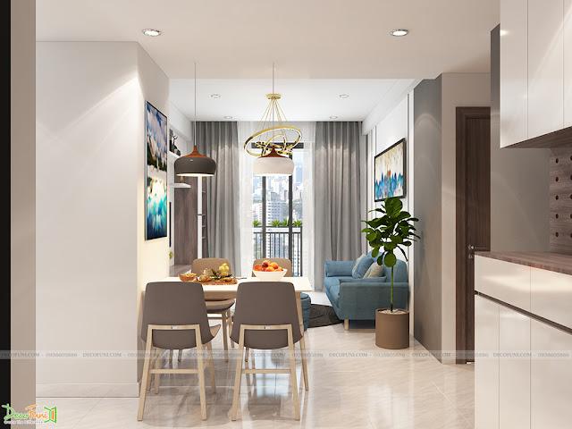 Thiết kế và thi công căn hộ chung cư Compass One - Tp. Thủ Dầu Một, Bình Dương - Phòng khách