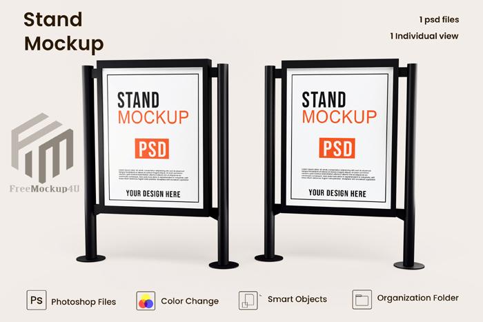 Advertising Stand Banner Mockup Design