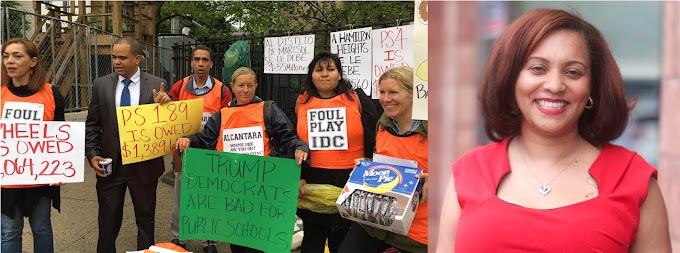 Padres de estudiantes se movilizan contra senadora Alcántara y la acusan de inercia
