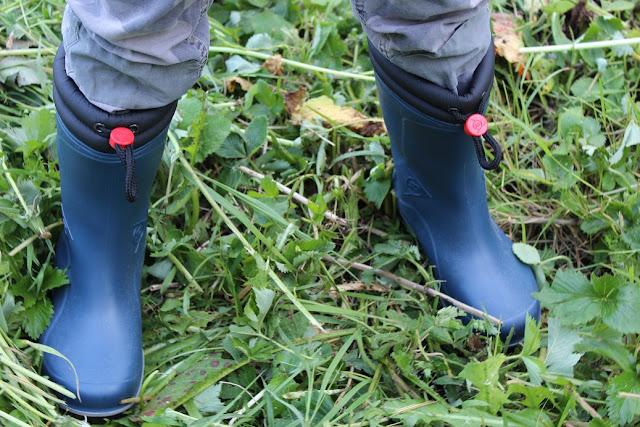 bottes dunlop  de couleur bleu et de qualité