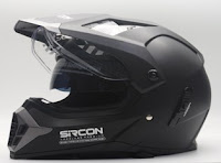 Cargloss SIRCON SUPERMOTO Helm Full Face - Deep Black SG
