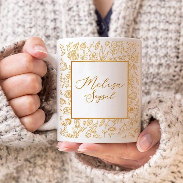İsme Özel Kadınlar İçin Kahve Bardağı