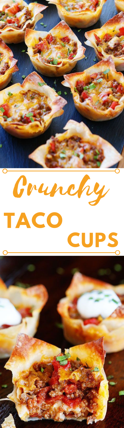 Crunchy Taco Cups #taco #dip #dinner #paleo #healthyrecipe