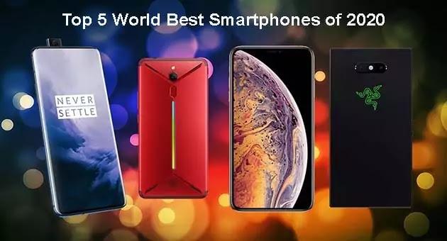 Top 5 World Best Smartphones of 2020 with 5G power