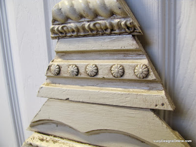 decorative molding using upholstery tacks
