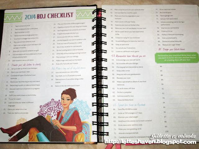 BDJ Planner Checklist 2014
