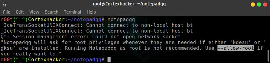 شرح تثبيت Notepad++  بديل Notepadqq على الكالي لينكس والاوبنتو