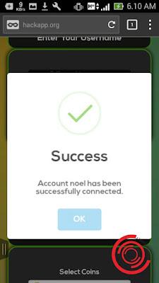 Jika sudah terhubung akan muncul tulisan Success, silakan kalian klik OK saja