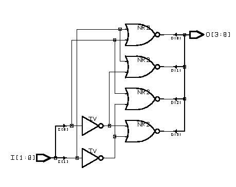 Electronics Today: VHDL Tutorials: Decoder 2x4