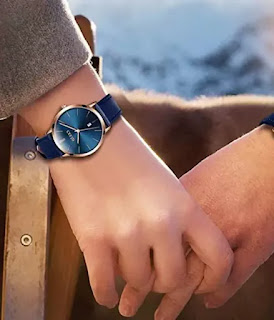 OLEVS Leather Watches for Ladies