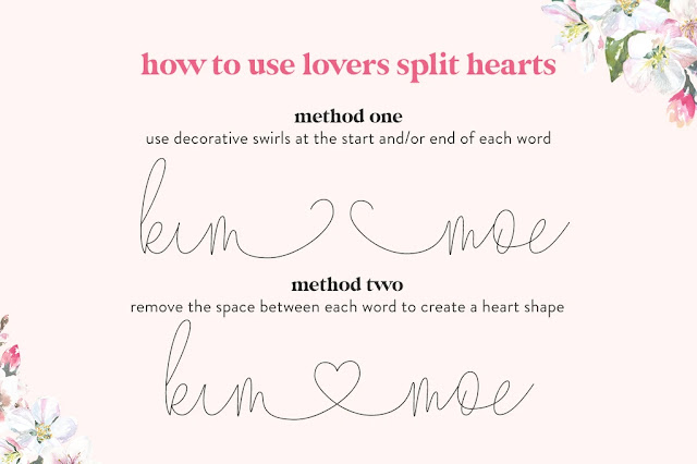 MF I love glitter font alternative, speciality fonts, fonts with hearts, glyphs, commercial use fonts