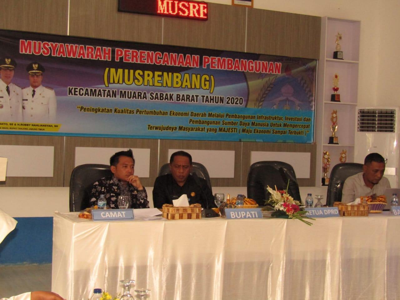 233 Usulan Jadi Prioritas Musrenbang Kecamatan Muara Sabak Barat