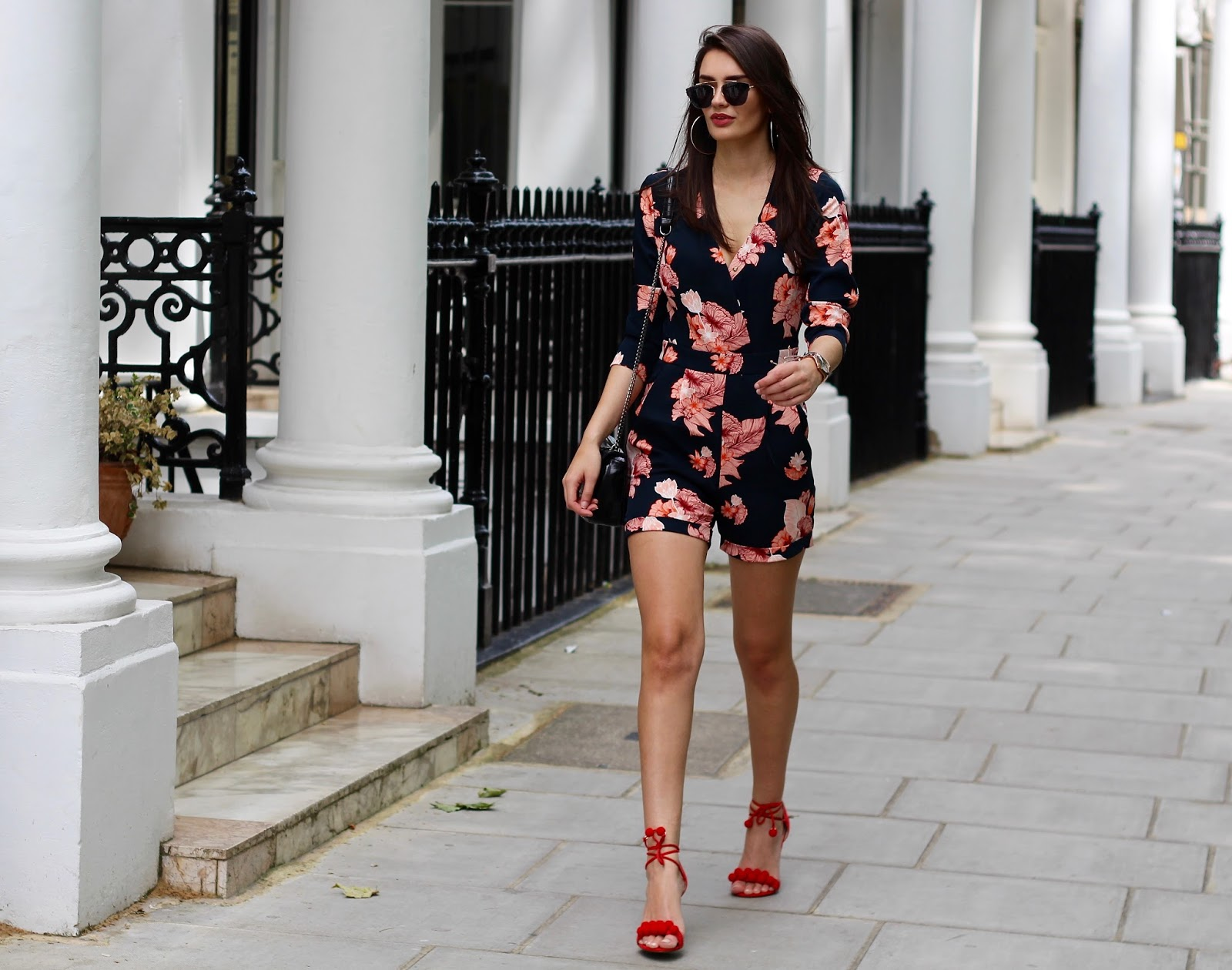 spring florals playsuit peexo blogger