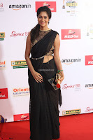 Sindhu looks fabulous in Black Saree designer choli at Mirchi Music Awards South 2017 ~  Exclusive Celebrities Galleries 067.JPG