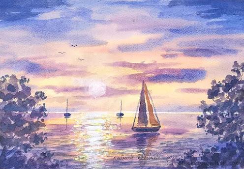 Un tramonto al mare