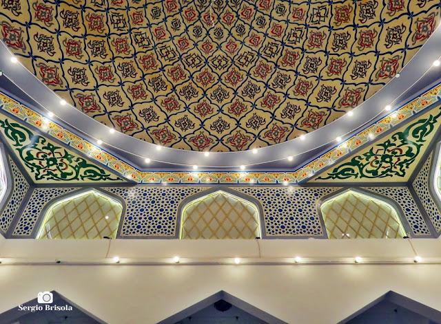 Vista dos detalhes dos adornos da Mesquita Brasil - Cambuci - São Paulo