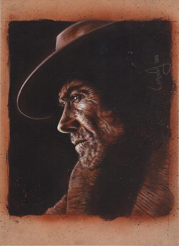 Clint Eastwood Artwork Copyright © 2015 Jeff Lafferty