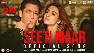 Seeti Maar Lyrics Radhe | Salman Khan, Disha Patani -