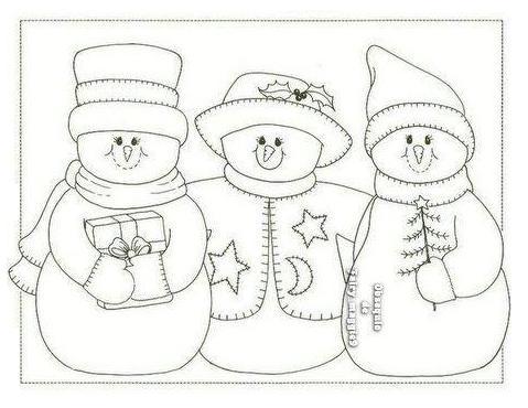 bonecos de neve para imprimir e pintar o mundo das crianças