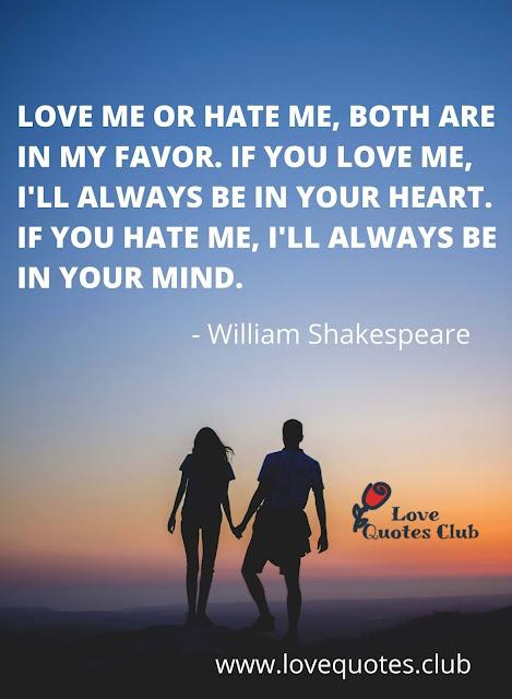 love quotes william shakespeare