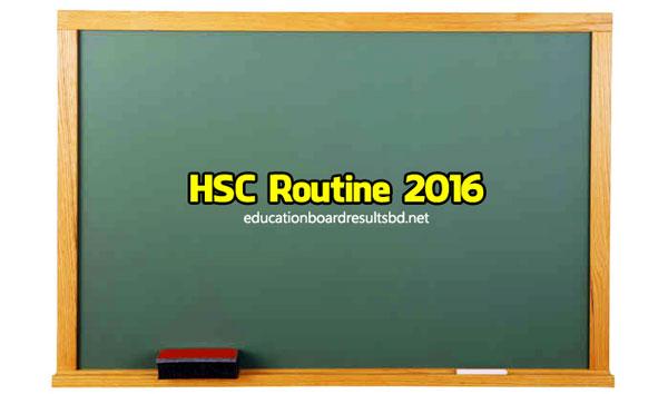 HSC Routine 2016