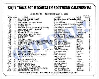 KHJ Boss 30 No. 53 - July 6, 1966