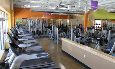 Fitness equipment available in anytime fitness