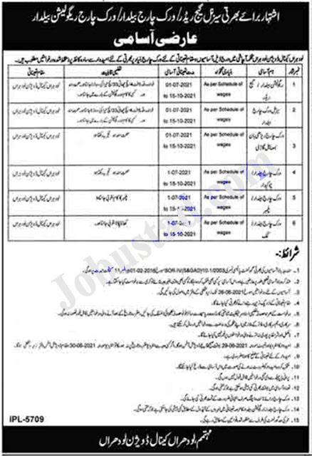 Punjab Irrigation Department Jobs 2021 Latest Advertisement