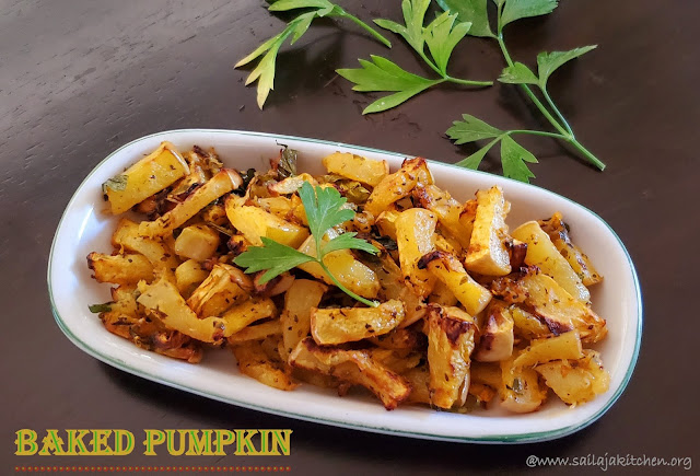images of Roasted Pumpkin / Spicy Roasted Pumpkin / Baked Pumpkin