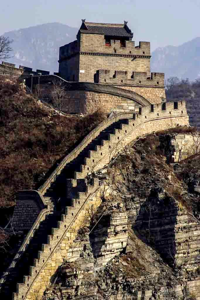 Desnivel en la Gran Muralla China