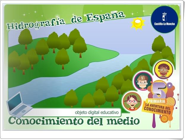 Hidrografía de España Ciencias Sociales de Primaria Junta de Castilla La Mancha