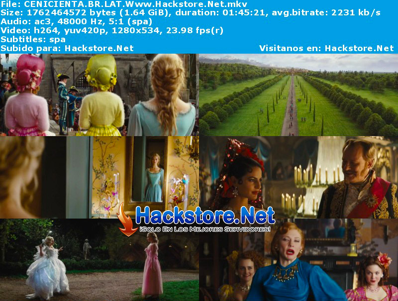 Capturas de La Cenicienta (2015) Blu-Ray RIP HD Latino