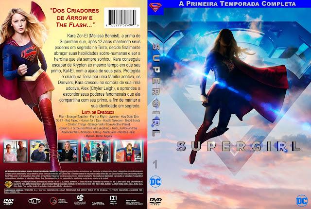 Capa DVD Supergirl A Primeira Temporada Completa