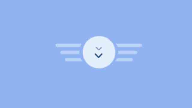 scroll down arrow animation