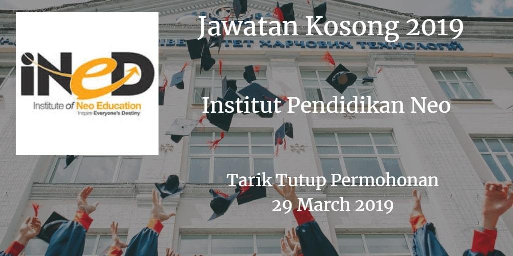 Jawatan Kosong iNED 29 March 2019