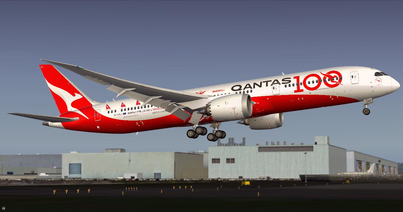 Boeing 787-9 Dreamliner / Qantas / VH-ZNJ / 100 Years c/s