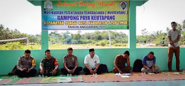 Musrenbang Desa Paya Keutapang Tahun 2020 Dipantau Danramil 12/Sry
