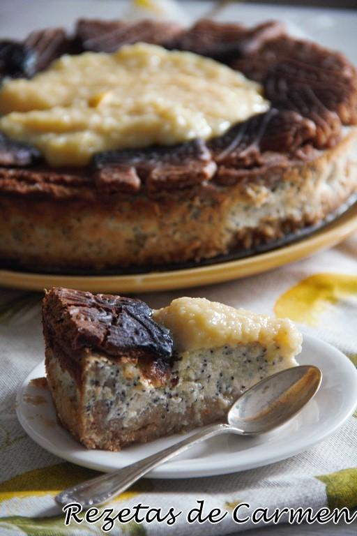 Tarta de queso, semillas de amapola y limón para celebrar el 11º cumpleblog