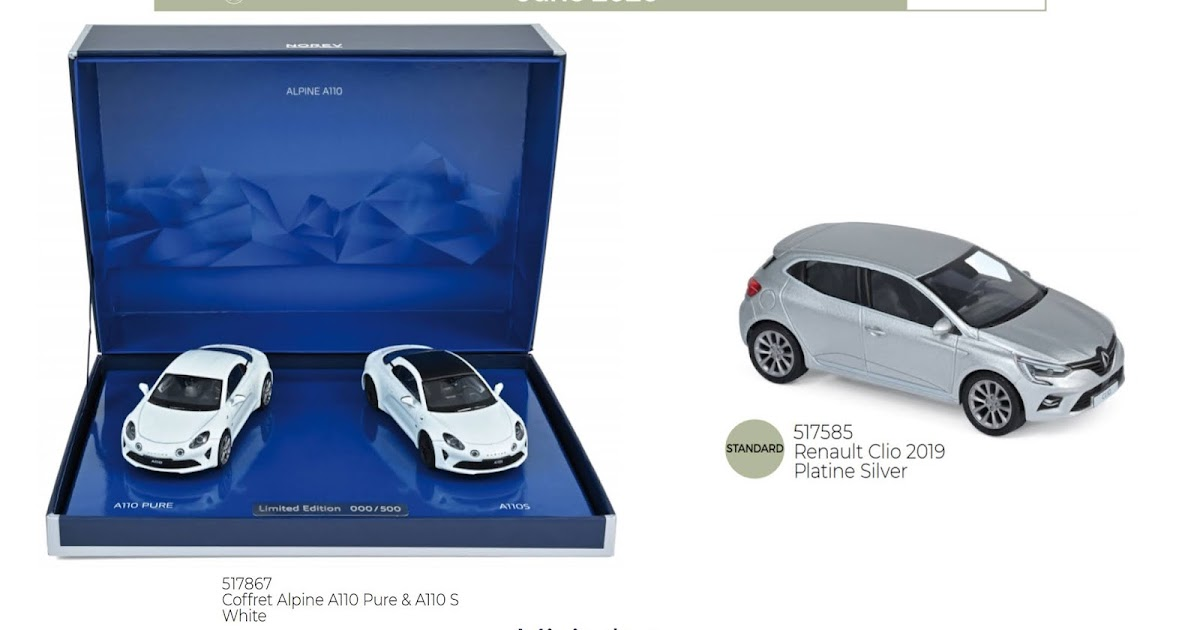 Coffret Alpine A110 Pure /& A110 S White 1//43-517867 NOREV
