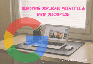 Removing duplicate titles and description in search console