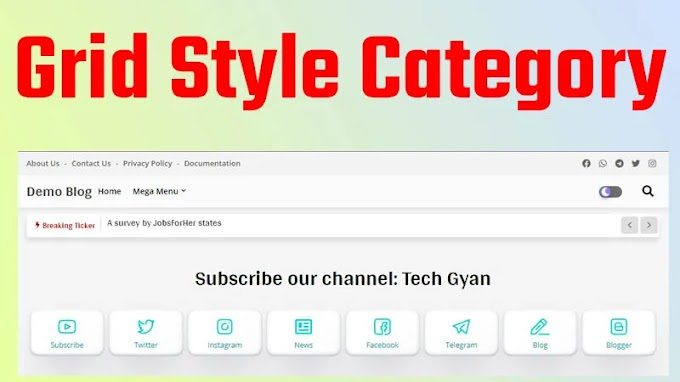 How to Add Grid style category in Blogger