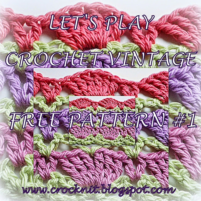 free crochet patterns, vintage, shells, fans,