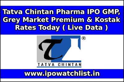 Tatva Chintan Pharma IPO GMP, Grey Market Premium