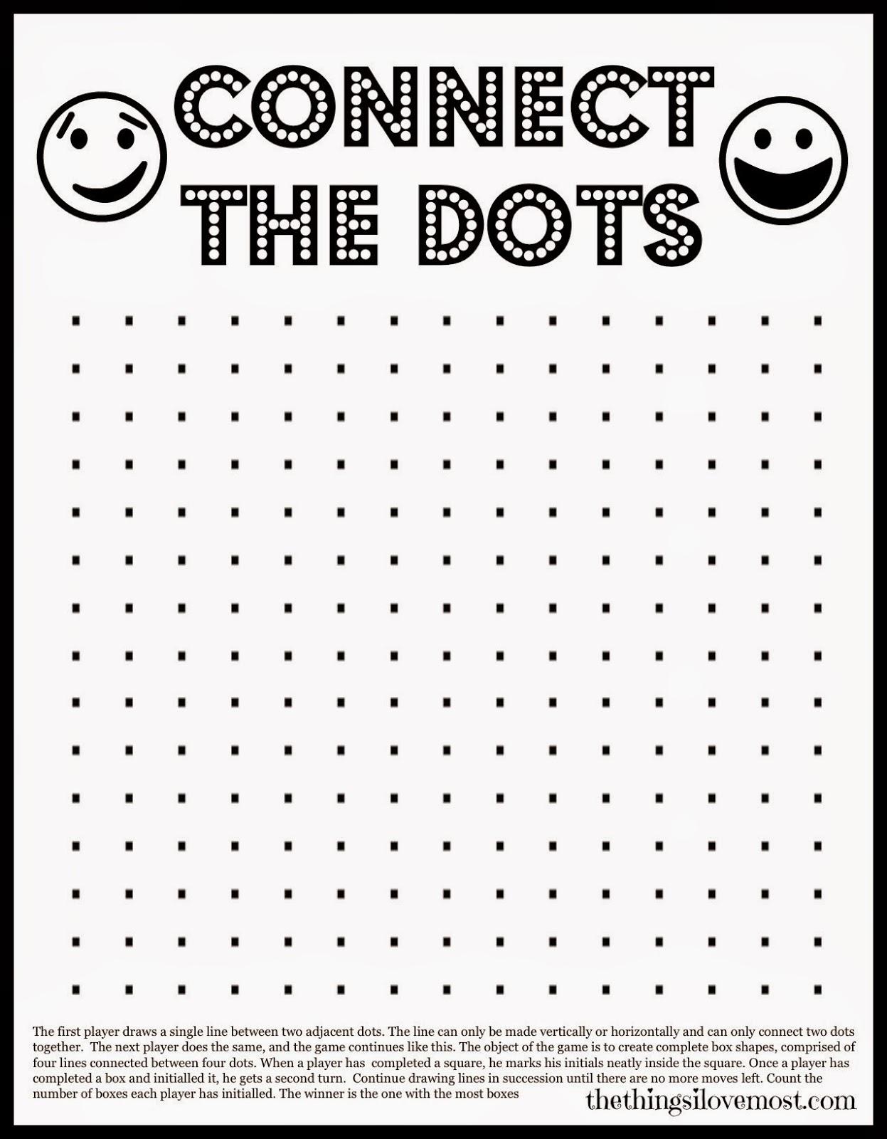 Universal printable dot game | Pierce Blog