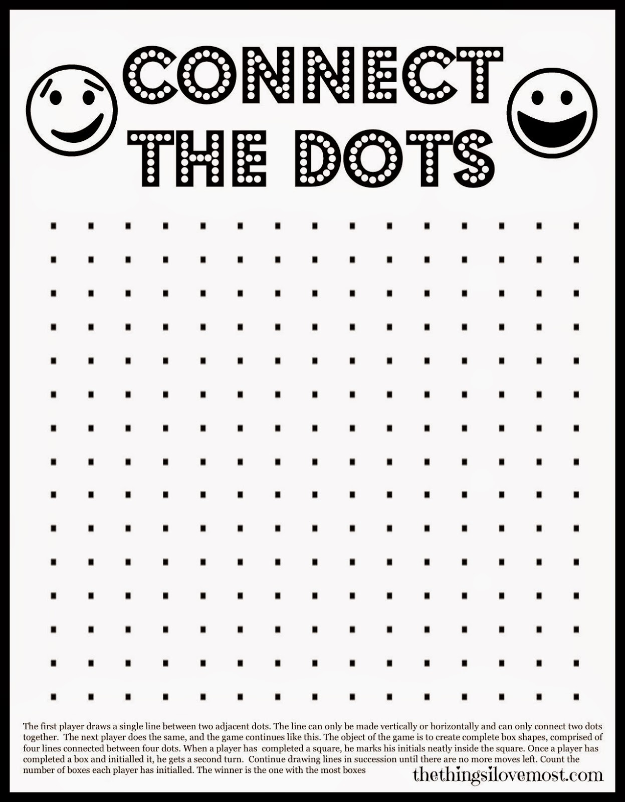 Universal Printable Dot Game